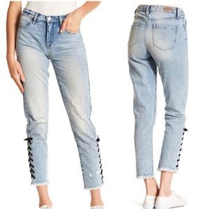 NWT BlankNYC High Rise Laced Ankle Skinny Jeans